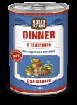Solid Natura Dinner Печень влажный корм для собак 0,34 кг   4515