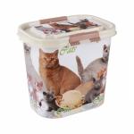 """Контейнер """"Cats"""" для корма 10 л. ( овальный)"""