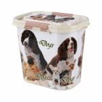 """Контейнер  """"Dogs"""" для корма 10 л. ( овальный)"""