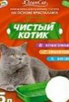 """Наполнитель кристаллит  """"Чистый котик"""" 5 л."""