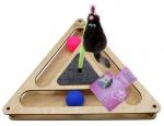 Игр комплекс Треугольник с шарик c игруш на пруж c когтет из ков