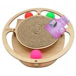 Игровой комплекс Круг с шариками c когтеточкой из каната